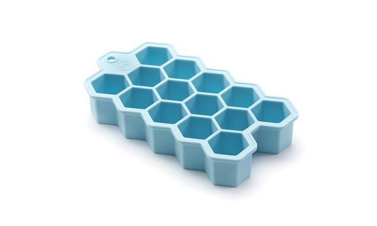 Amazon.com: Outset Silicone Hexagon Ice Cube Tray, Large Cubes: Ice Cube Molds: Kitchen & Dining