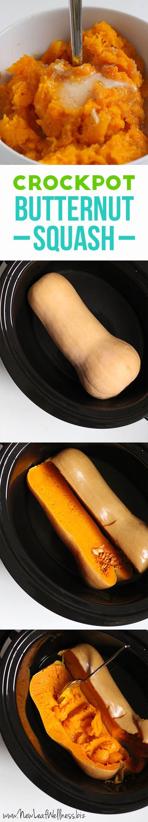Crockpot Butternut Squash. The easiest & healthiest recipe you will ever pin!