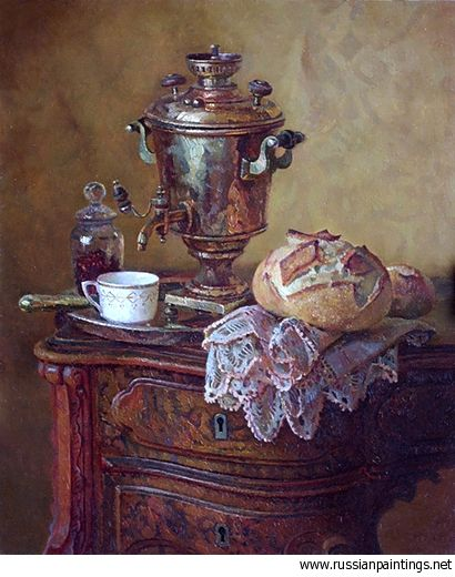 HAVING TEA IN RUSSIA | www.russianpainti...