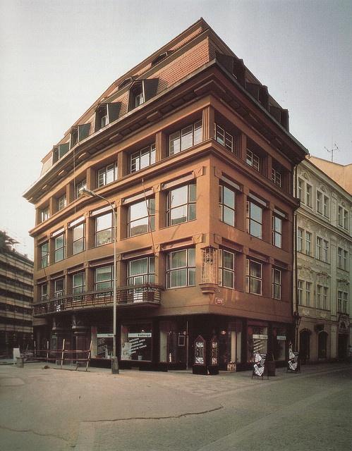 Josef Gočár, dům U černé Matky boží in Prague, 1911-12. Source: Dějiny českého výtvarného umění 1890-1938 IV/1.