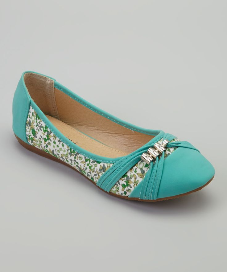 Turquoise Floral Sun Flat