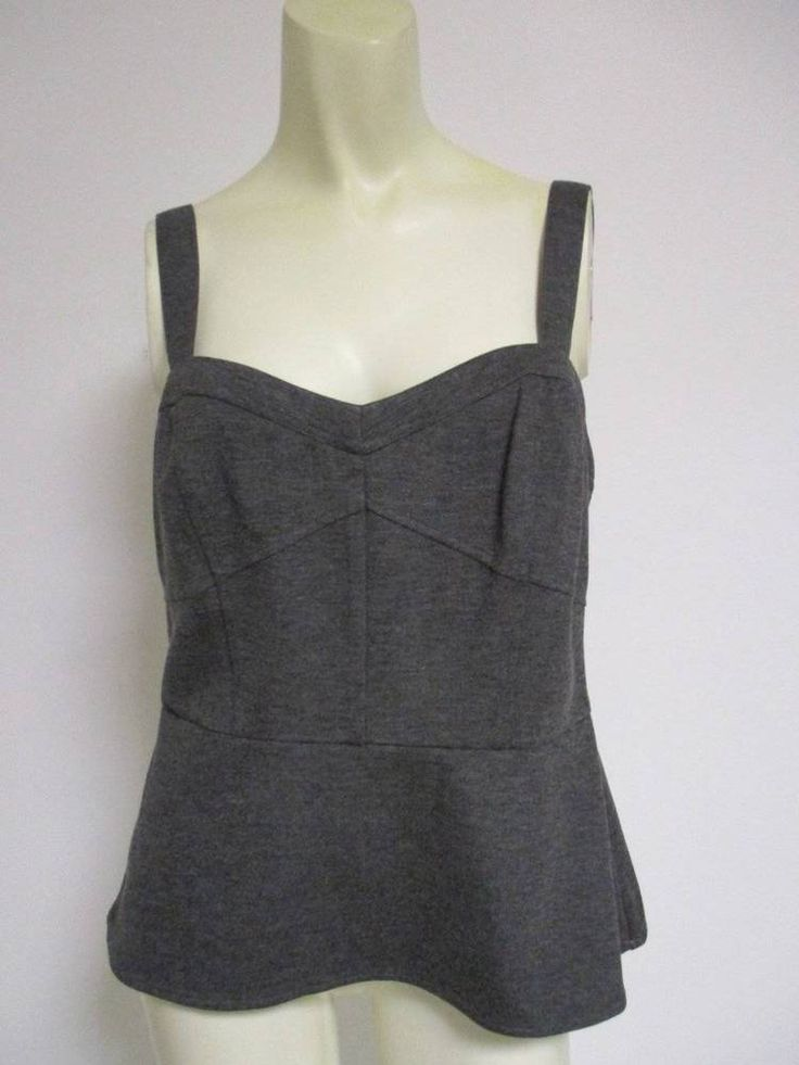 Cabi 552 Grey Ponte Bustier Top Tank Gravel  Size 6 NWT New #CAbi #TankCami #Casual $21