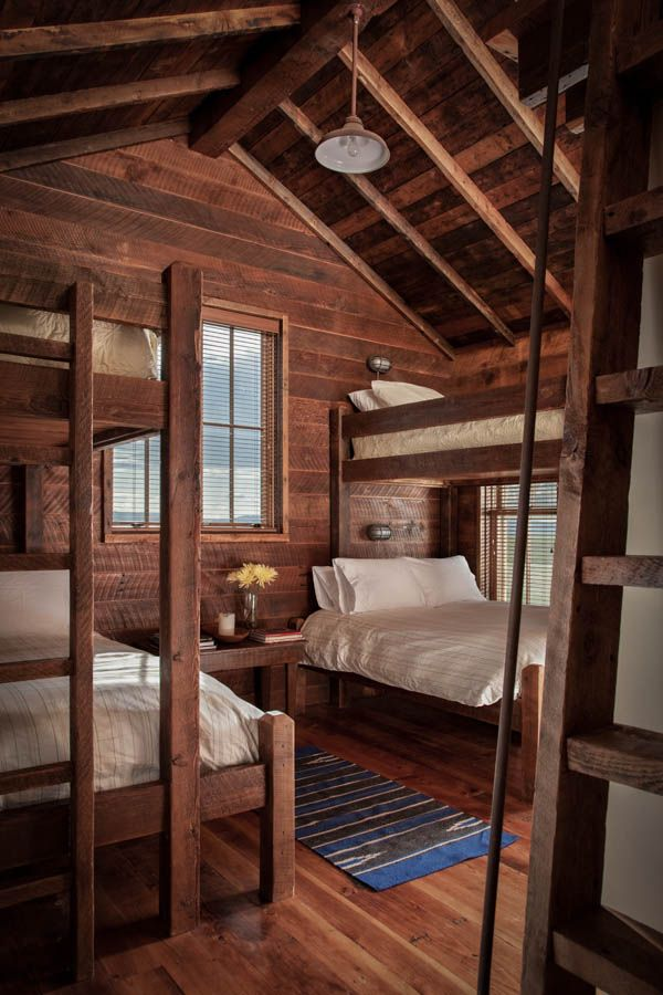 25 best ideas about cabin bunk beds on pinterest cabin for Log cabin style bunk beds