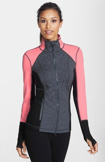 So glad I snatched this up when I did, IT'S AMAZING! Zella 'Luxe Mix' Cross Dye Jacket #Nordstrom