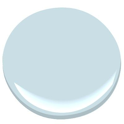 """2014 Benjamin Moore Color of the Year- """"Breath of Fresh Air"""".  I like it a lot. Very light and calm.  What do you guys think?"""