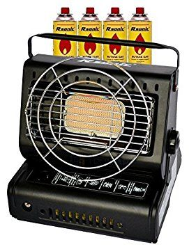 calefaccin de gas cermica radiador de gas kw calefactor camping con barbacoa