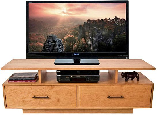 Contemporary TV Stand, Real Hardwood Fine Living Room Furniture