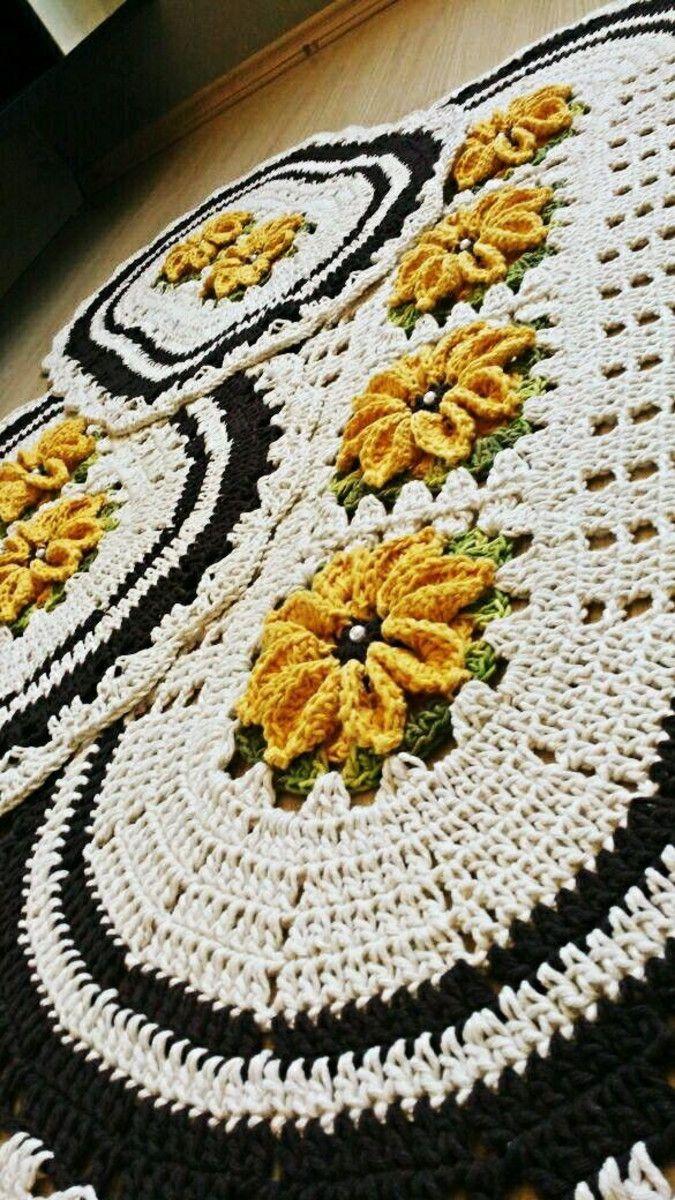 8d87d67977 Jogo de cozinha em crochê 3 peças no Elo7