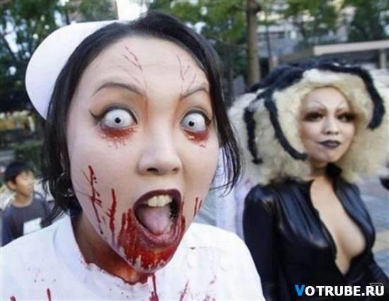 Сделать страшный костюм на хэллоуин