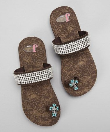 Brown Regan Toe Ring Sandal - Women by Justin Boots on #zulily