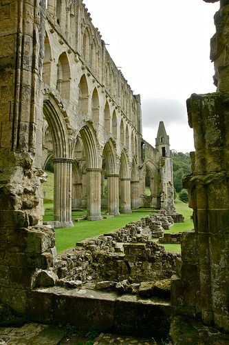 Rievaulx Abbey, founded in 1132, is a former Cistercian abbey, located in North Yorkshire. It was one of the wealthiest abbeys in England and was dissolved by Henry VIII in 1538.