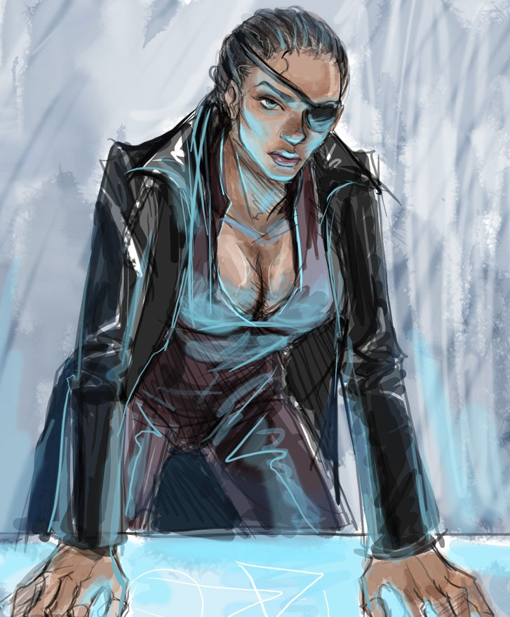Hello everyone I'm Nicole fury I am 29 I'm the leader of S.H.i.E.L.D I'm a great leader I'm very intelligent strong and fast I can tell a hero when I see one I'm handy with every weapon and have good aim