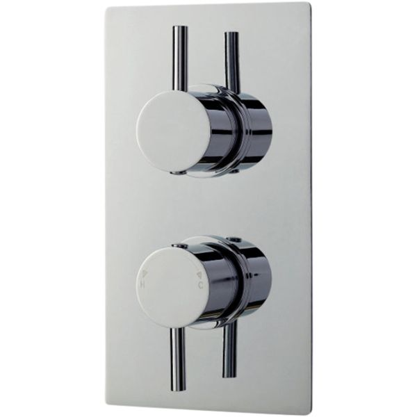 Concealed Thermostatic Twin Shower Valve
