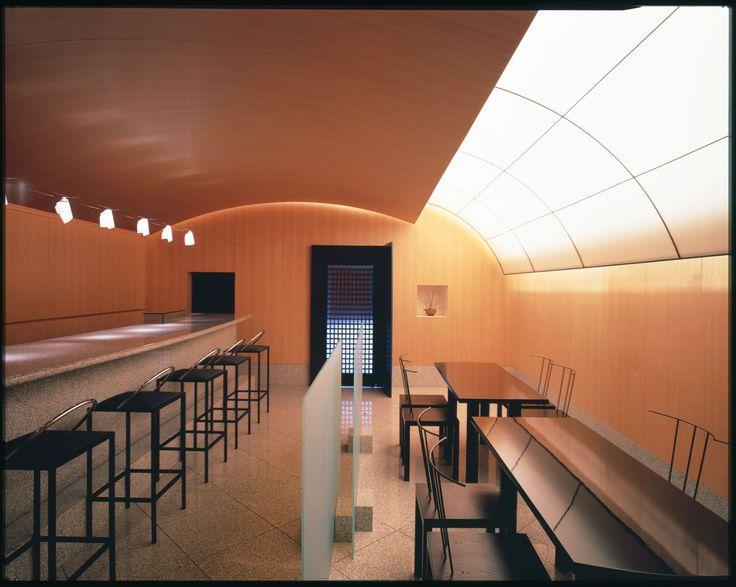 Kiyotomo sushi bar, Tokyo, 1988. Design by Shiro Kuramata. Photograph by Nacasa & Partners Inc