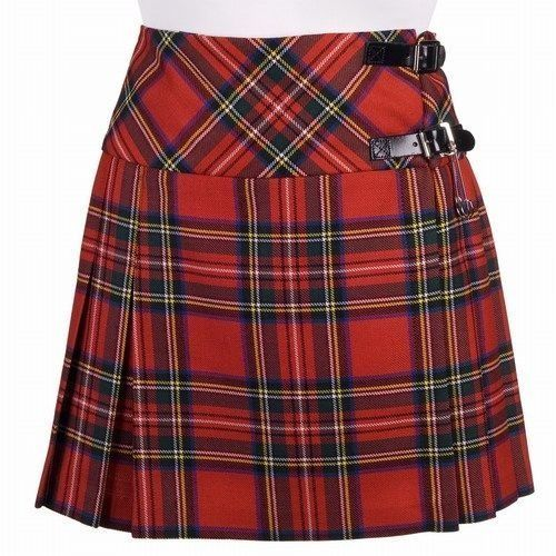 Great Gift : New Ladies Royal Stewart Tartan Scottish Mini Billie Kilt Mod Skirt #Handmade #BillieSkirt
