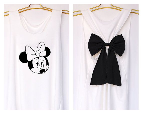 I'm Minnie mouse mickey Disney Tank Premium with Bow  by DollysBow, $27.99