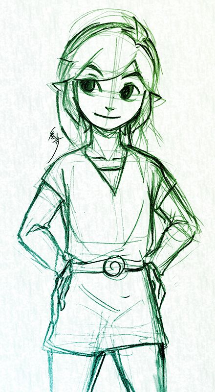 how to draw toon link