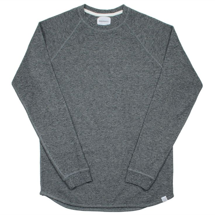 Norse Projects - Aske Fine Structure Sweatshirt - Charcoal Melange