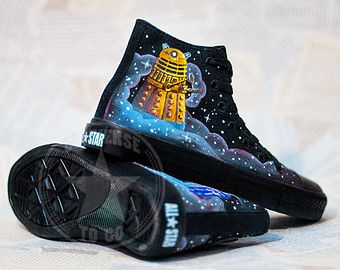 Shoes Who Converse Doctor Box Blue Tardis Custom Dalek FPEnqY