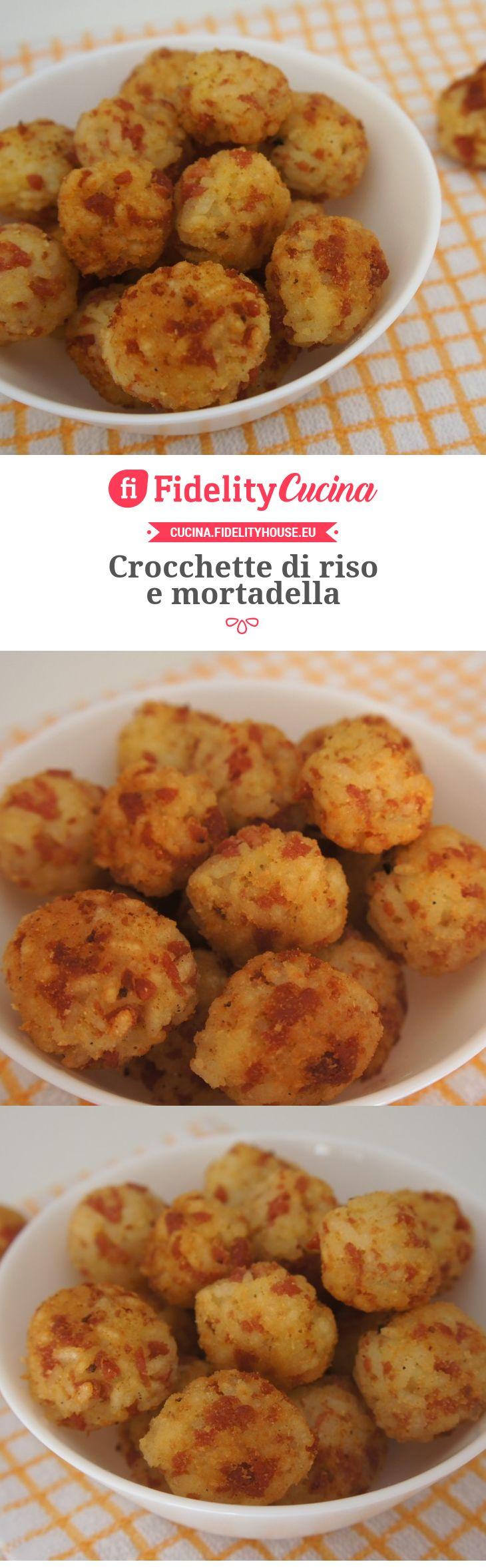 Crocchette di riso e mortadella
