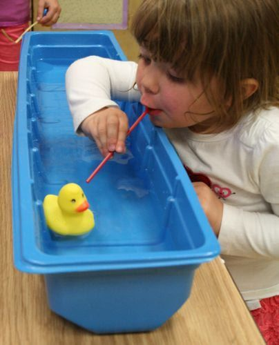This could be fun to add to the sensory table during a duck or pond theme.