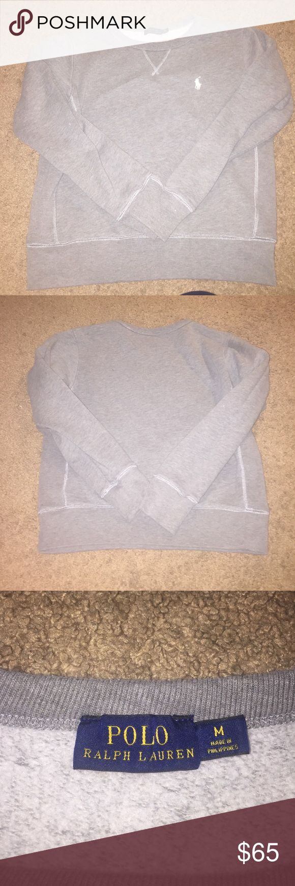 Polo pullover sweatshirt Brand new but I washed it and shrunk it ): will fit a small better which is why is listed as such. Polo by Ralph Lauren Tops Sweatshirts & Hoodies