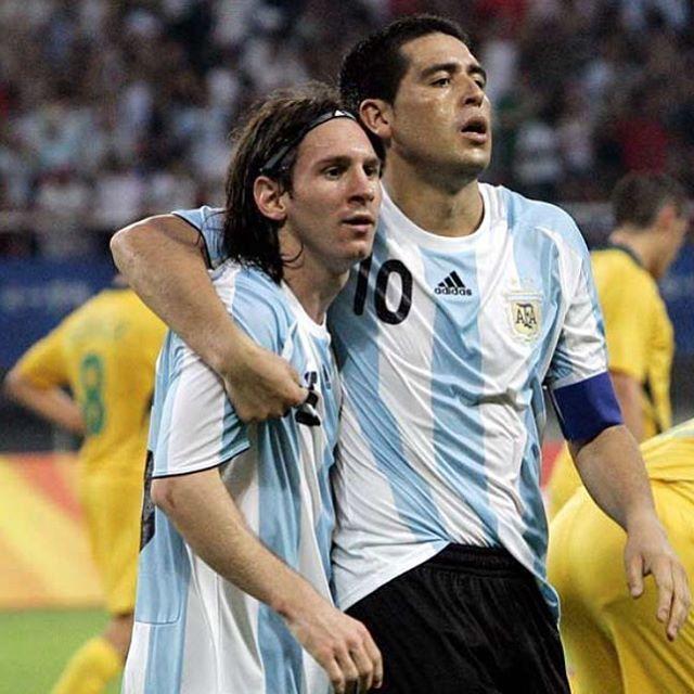 #Riquelme #Messi