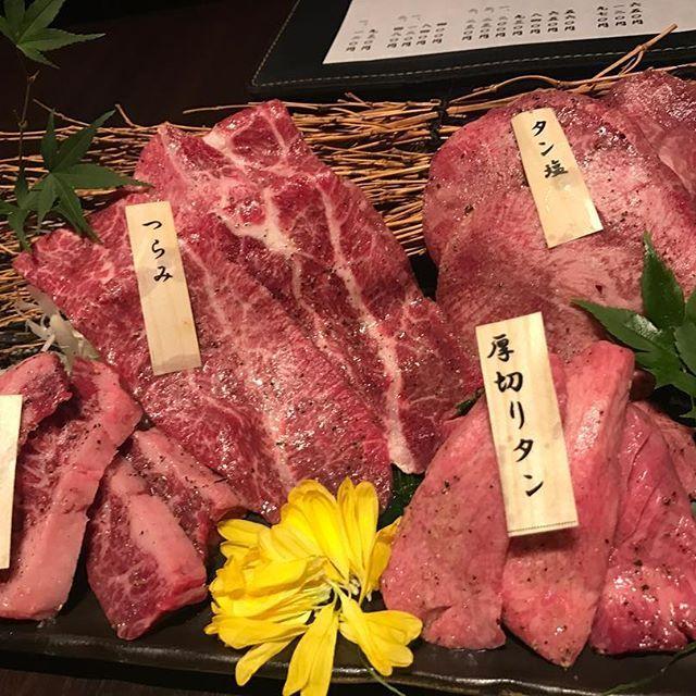 焼肉🐮 🚩西麻布 かのや #焼肉#肉#かのや#西麻布#ツラミ#はらみ#タン#タン塩#厚切りタン#焼肉#日本#japan#yakiniku