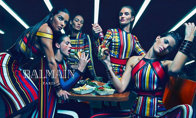 First Look: Supermodels for Balmain Spring Summer 2015