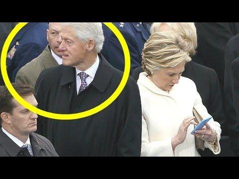 01/20/17 Hillary BUSTS Bill Clinton STARING At Melania TRUMP! (And Ivanka?) 2017 Inauguration - YouTube