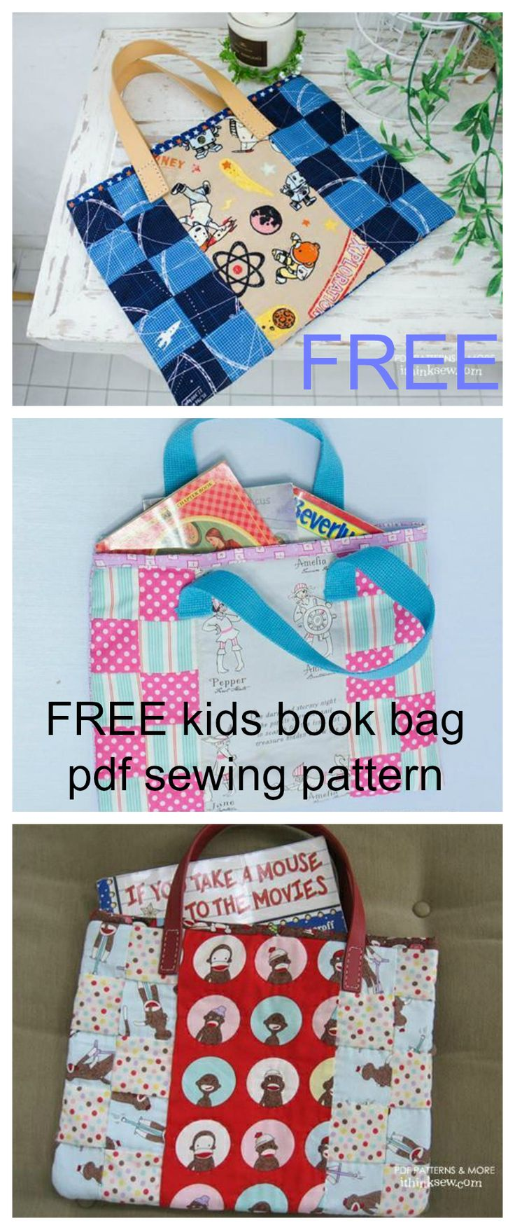 Free Quilted Paperback Book Cover Pattern : Best bags to sew images on pinterest sewing