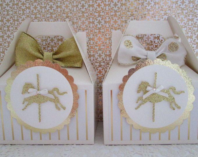 Cajas del Favor del caballo del carrusel, a Favor de cajas, cajas del Favor del carrusel, feliz van redondo cajas, cajas del Favor del cumpleaños, bebé ducha Favor cajas.