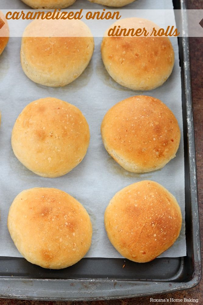 Soft, with a subtle sweetness and an incredible aroma from the caramelized onions, these onion dinner rolls are perfect for sandwiches or an...