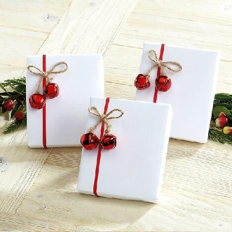Jute Jingle Bell Package Tie Ons $6.00