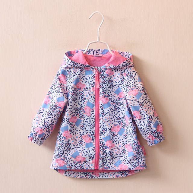 """2016 New Children Baby Lovely pig windbreaker Flowers hooded jacket girls sun-protective clothing wholesale US $78.00 /lot (5 pieces/lot) Specifics Outerwear TypeTrench Item TypeOuterwear & Coats Clothing LengthRegular Pattern TypeFloral Brand NameChina manufacture products GenderGirls Style""""European and American Style MaterialCotton Fabric TypeBroadcloth CollarHooded Sleeve LengthFull Model Numbercoat  Click to Buy :http://goo.gl/t9O329"""