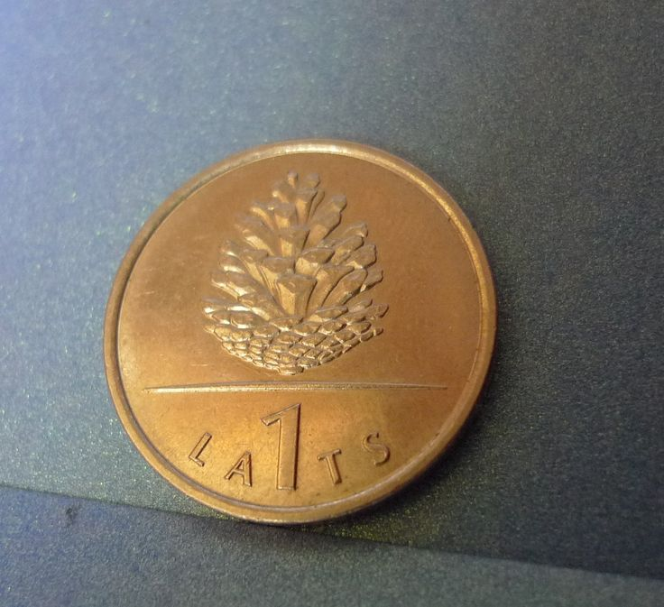 pa. Latvia 1 LATS 2006 Pinecone - Coin for Luck Souvenir coin numismatic Jewelry making Scrapbooking by ForCollecting on Etsy