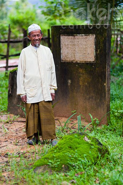 Khmer Cham caretaker of Marguerite Duras memorial   Sihanoukville Province, Cambodia