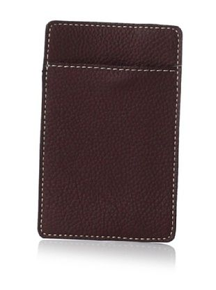 Leone Braconi Men's Credit Card Holder, Acajou, One Size