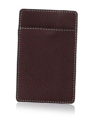 Leone Braconi Men's Credit Card Holder, Acajou, One Size