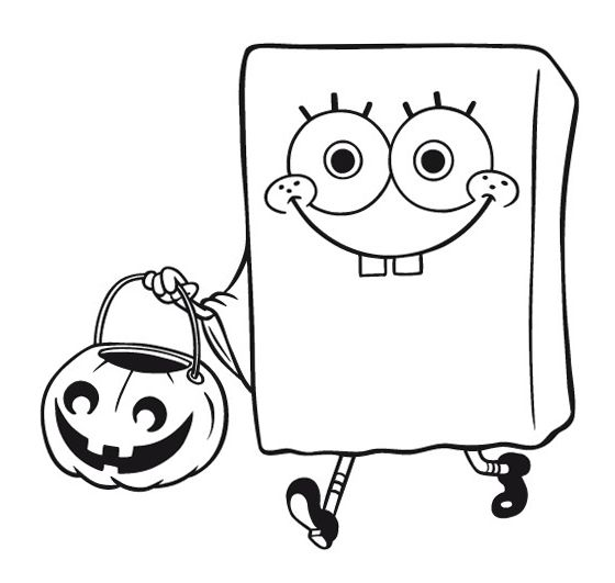 cartoon pumpkin coloring pages - spongebob coloring page of spongebob squarepants dressed