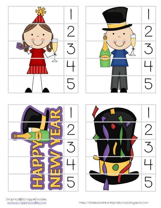 Numbered picture puzzles! Pictures cut into strips and numbered to teach order.