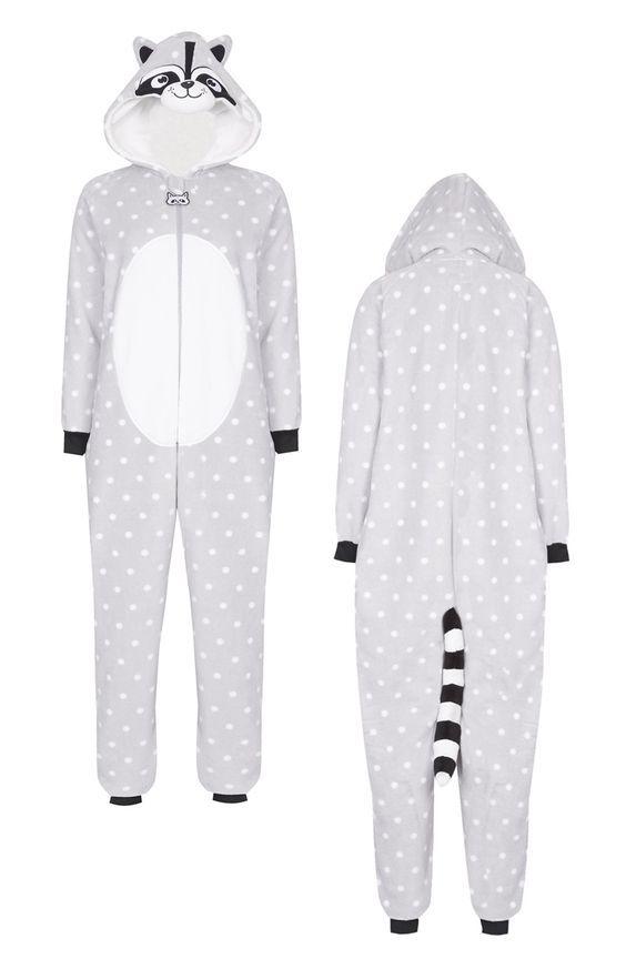 9b5b8a203 Mono de mapache gris | costura in 2019 | Pijama mameluco, Pijama bebe,  Pijama