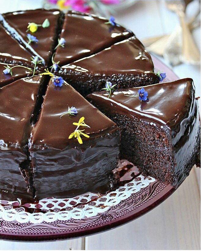 طرزتهیه ومواد لازمکیک شکلاتی خیس اسپانیایی