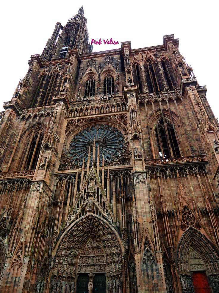 Strassburg Cathedral, France. I saw the best fireworks display here on Bastille Day about 20 years ago,