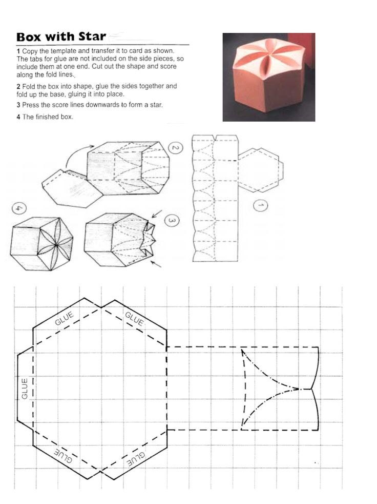 Star / frangipani favor / favour box template
