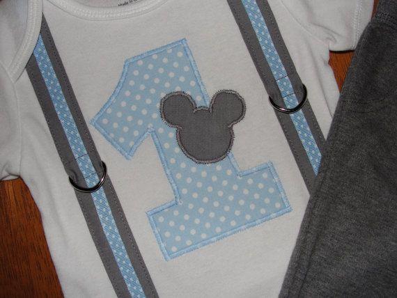 Traje de cumpleaños de Mickey Mouse 1ª primer por HomeArtsBoerne