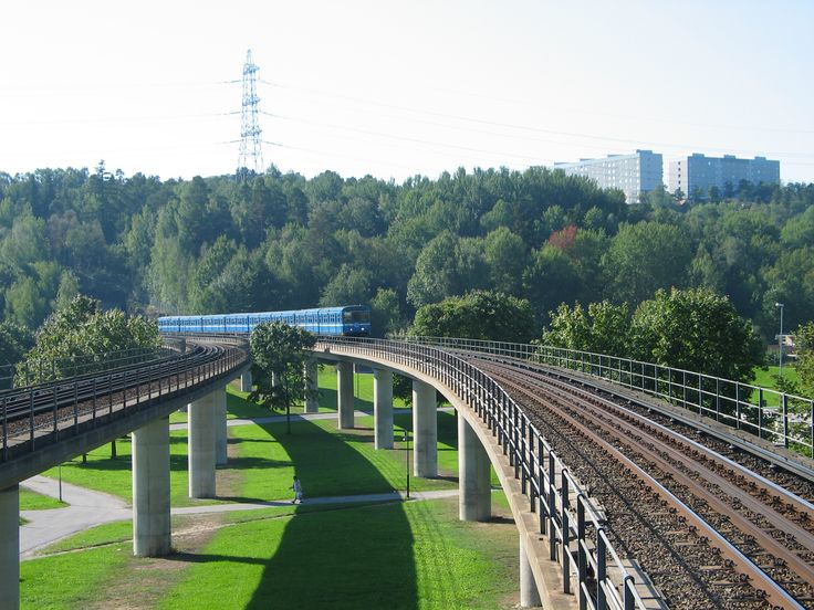 Subway in a Stockholm suburb. Stockholm, the capita of Sweden.