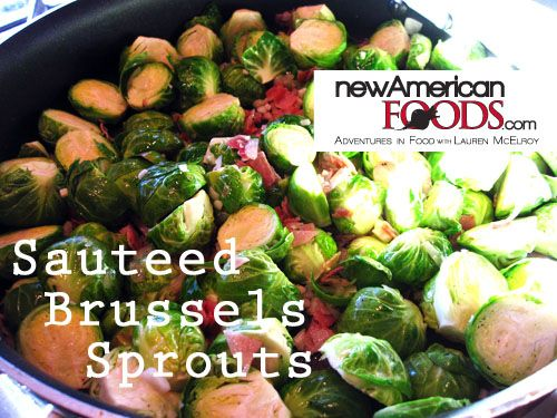 sauteed brussels sprouts with pancetta and garlic