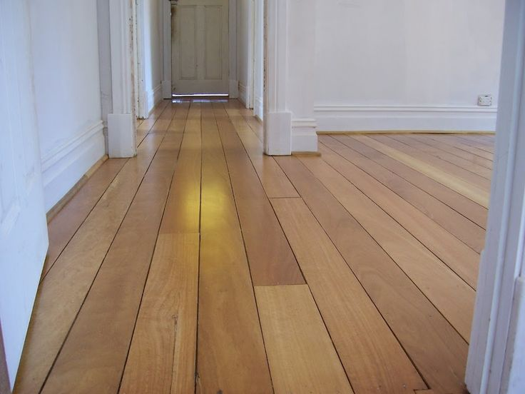 bleached Jarrah floor boards with water based satin