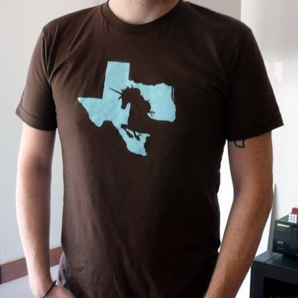Texicorn (Texas Unicorn) T-Shirt. $22.00, via Etsy.